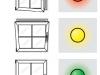 Три лампочки сигнализируют открыто, закрыто или откинуто ваше окно